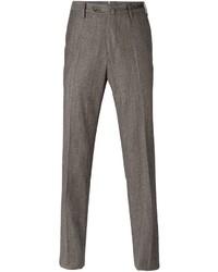 Pantalón de vestir de lana marrón de Pt01