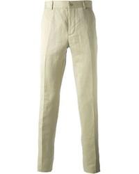 Pantalón de Vestir de Lino Beige de Maison Martin Margiela
