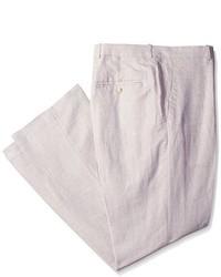 Pantalón de Vestir de Lino Beige de Perry Ellis