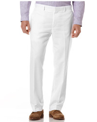 Pantalón de vestir de lino blanco