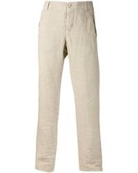 Pantalón de vestir de lino en beige