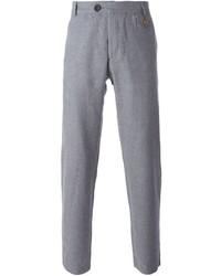 Pantalón de vestir de lino gris de Oliver Spencer