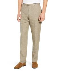 Pantalón de vestir de lino marrón claro