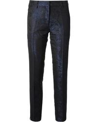 Pantalón de vestir de paisley azul marino