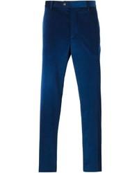 Pantalón de vestir de pana azul marino de Etro