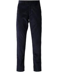 Pantalón de vestir de pana azul marino de Tomas Maier