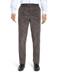 Pantalón de vestir de pana en gris oscuro