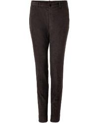 Pantalón de vestir de pana en marrón oscuro