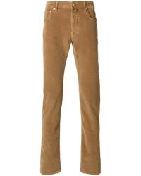 Pantalón de vestir de pana marrón de Jacob Cohen