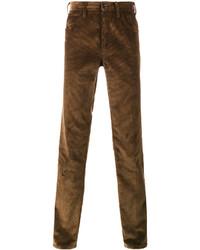 Pantalón de vestir de pana marrón de Prada