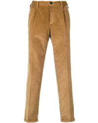 Pantalón de vestir de pana marrón de Pt01