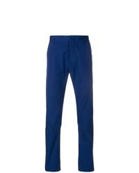 Pantalón de vestir de pata de gallo azul marino de Prada