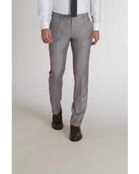 Pantalón de vestir de pata de gallo gris