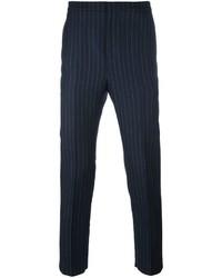 Pantalón de vestir de rayas verticales azul marino de Golden Goose Deluxe Brand