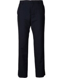 Pantalón de vestir de rayas verticales azul marino de Jil Sander