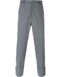 Pantalón de vestir de rayas verticales gris de MSGM