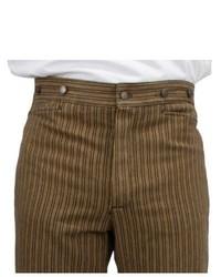 Pantalón de vestir de rayas verticales marrón