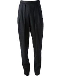 Pantalón de vestir de rayas verticales negro