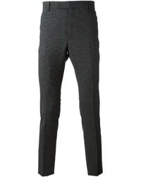 Pantalón de vestir de tartán en gris oscuro de Lanvin
