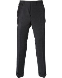 Pantalón de vestir de tartán en gris oscuro de Mauro Grifoni