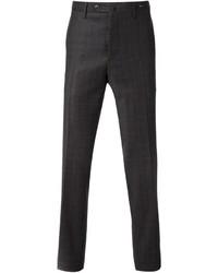 Pantalón de vestir de tartán en gris oscuro de Pt01
