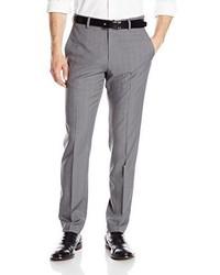 Pantalón de vestir de tartán gris de Haggar
