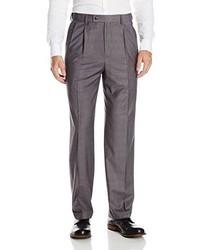 Pantalón de vestir de tartán gris de Louis Raphael