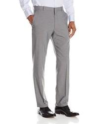 Pantalón de vestir de tartán gris de Perry Ellis