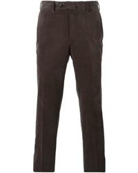 Pantalón de vestir en marrón oscuro de Ermenegildo Zegna