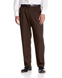 Pantalón de vestir en marrón oscuro de Haggar