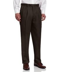 Pantalón de vestir en marrón oscuro de Louis Raphael