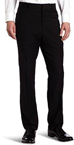 1e0e7bc57af3b ... Pantalón de vestir negro de Perry Ellis ...