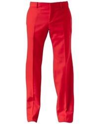 Pantalón de vestir rojo de Alexander McQueen