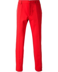 Pantalón de vestir rojo de Calvin Klein