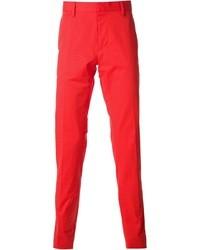 Pantalón de vestir rojo de DSquared