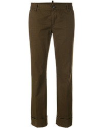 Pantalón de vestir verde oliva de Dsquared2