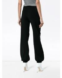 Pantalones anchos a cuadros en negro y blanco de Chloé