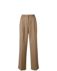Pantalones anchos a cuadros marrón claro de Twin-Set