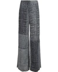 Pantalones anchos a cuadros negros de Jason Wu