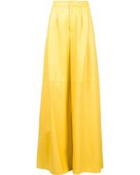 Pantalones anchos amarillos de ADAM by Adam Lippes