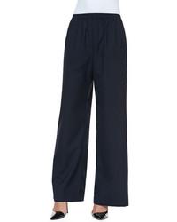 Pantalones anchos azul marino
