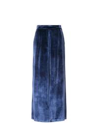 Pantalones anchos azul marino de Fleur Du Mal