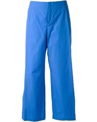 Pantalones anchos azules de Jil Sander