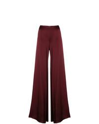 Pantalones anchos burdeos de Romeo Gigli Vintage