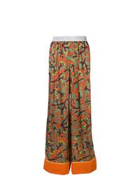 Pantalones anchos con print de flores en multicolor de I'M Isola Marras