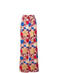 Pantalones anchos con print de flores en multicolor de Vivetta
