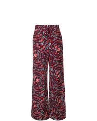 Pantalones anchos con print de flores morado oscuro de See by Chloe