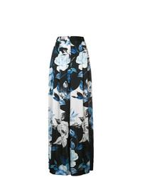 Pantalones anchos con print de flores negros de Off-White