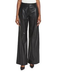 Pantalones anchos de cuero