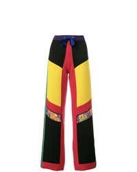 Pantalones anchos de lana en multicolor de Etro